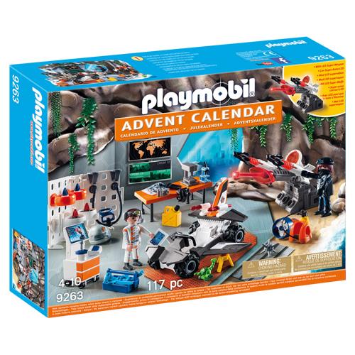 Adventní kalendář Playmobil Top Agenti - dílna, 117 dílků