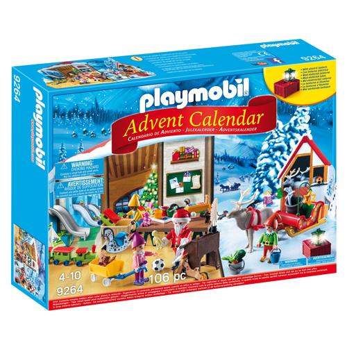 Adventní kalendář Playmobil Santa Claus a jeho dílna, 106 dílků