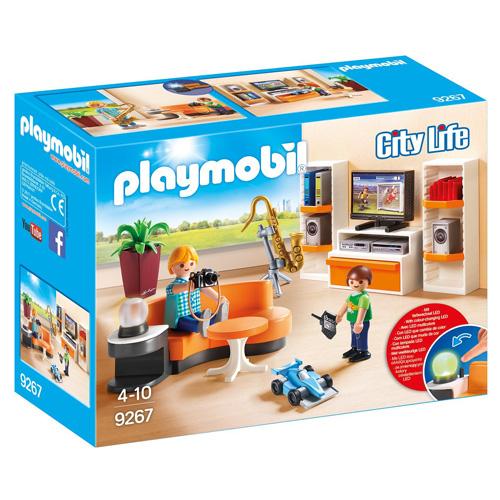 Obývací pokoj Playmobil Moderní dům, 25 dílků
