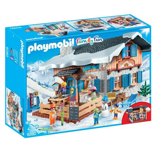 Lyžařská chata Playmobil Zimní sporty, 146 dílků