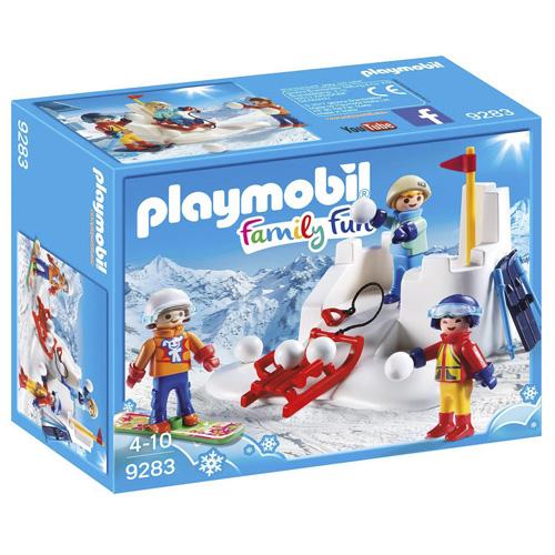 Sněhová bitva Playmobil Zimní sporty, 30 dílků