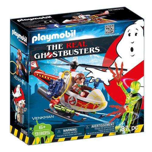 Venkman s helikoptérou Playmobil Krotitelé duchů, 37 dílků