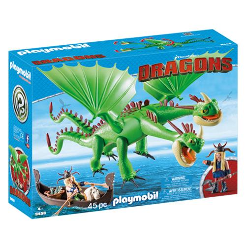 Rafana a Ťafan s Krkounem a Plivounem Playmobil Jak vycvičit draka, 45 dílků
