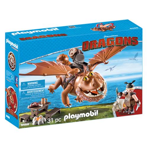 Drak Flákota a Rybinoha Playmobil Jak vycvičit draka, 31 dílků