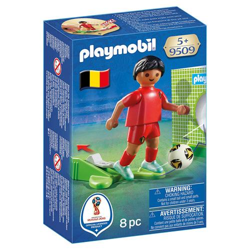 Fotbalista Belgie Playmobil panáček s míčem, 8 dílků