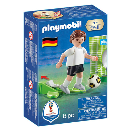 Fotbalista Německa Playmobil panáček s míčem, 8 dílků