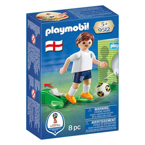 Fotbalista Anglie Playmobil panáček s míčem, 8 dílků