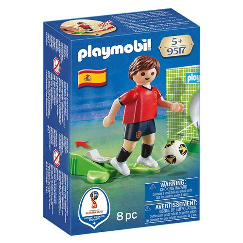 Fotbalista Španělska Playmobil panáček s míčem, 8 dílků