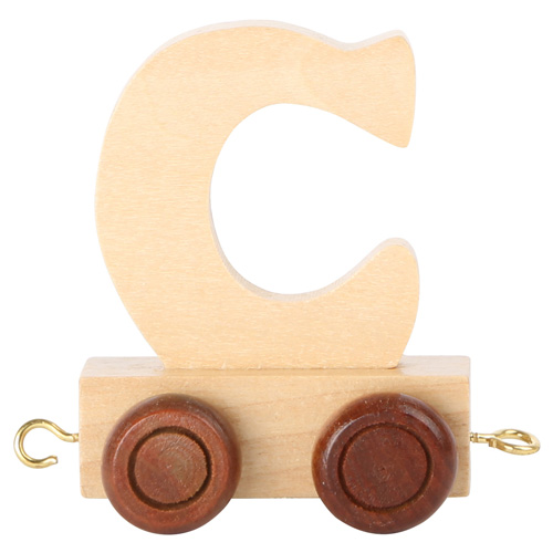 Legler Dřevěný vláček vláčkodráhy abeceda písmeno C