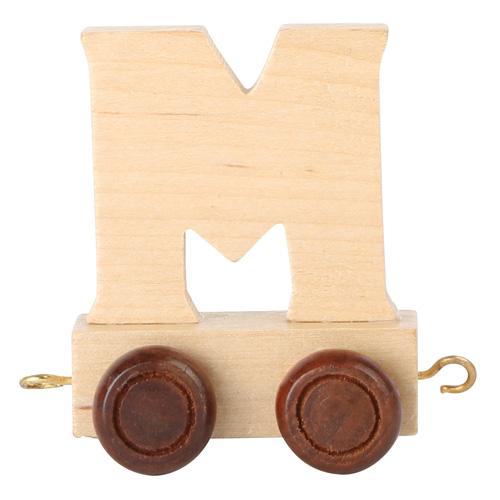 Legler Dřevěný vláček vláčkodráhy abeceda písmeno M