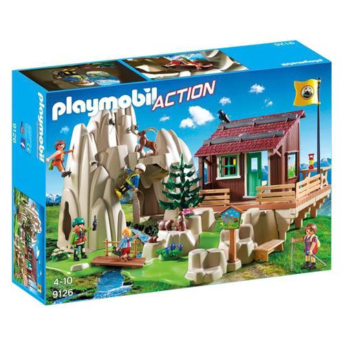 Skála s horskou chatou Playmobil Záchranáři, 80 dílků