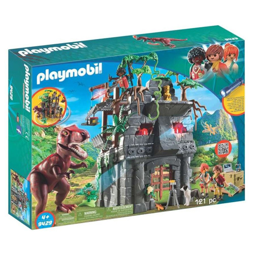 Základní tábor a T-Rex Playmobil Dinosauři, 121 dílků