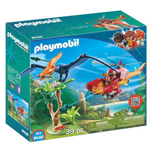Helikoptéra s Pterodactylem Playmobil Dinosauři, 39 dílků