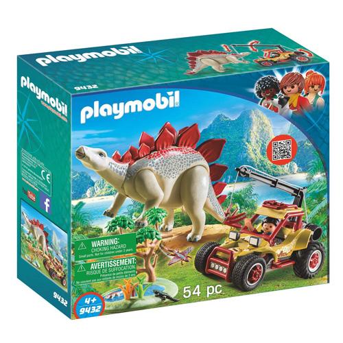 Výzkumné auto se Stegosaurem Playmobil Dinosauři, 54 dílků