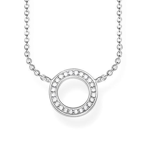 "Náhrdelník ""Kruh"" Thomas Sabo SCKE150207, Glam & Soul, 925 Sterling silver, zirconia white"