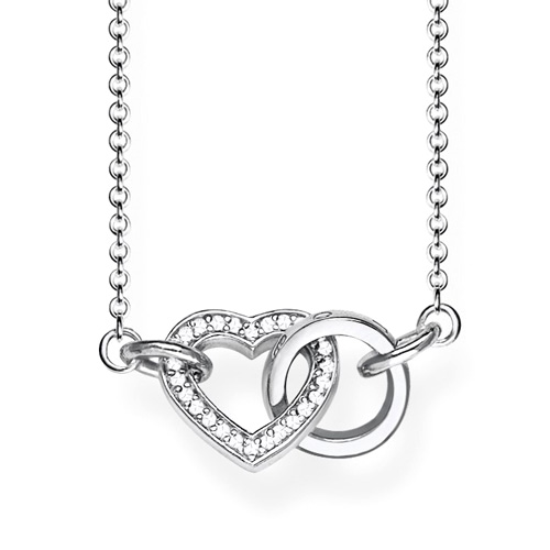 "Náhrdelník ""Spolu srdce"" Thomas Sabo SCKE150208, Glam & Soul, 925 Sterling silver, zirconia white"