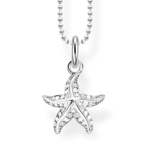 """Náhrdelník """"Hvězdice"""" Thomas Sabo SCKE150237, Glam & Soul, 925 Sterling silver, zirconia white"""