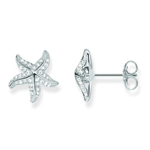 """Náušnice """"Hvězdice"""" Thomas Sabo SCH150236, Glam & Soul, 925 Sterling silver, zirconia white"""