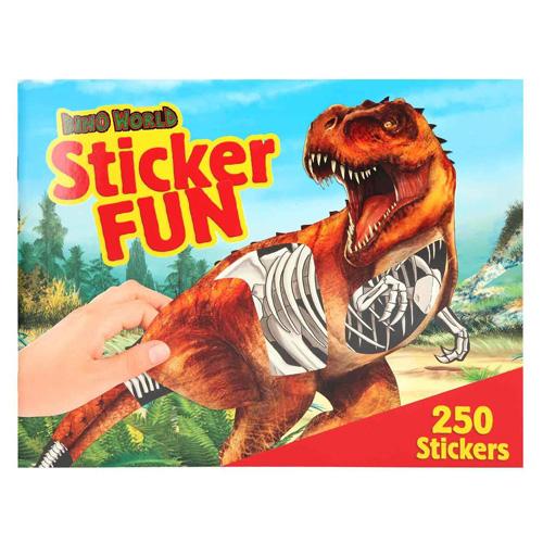 Kreativní sešit Dino World Kostry dinosaurů, 250 samolepek