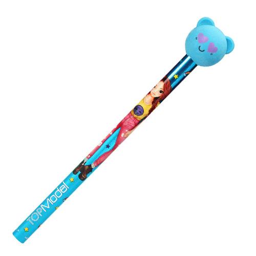 Tužka s gumou Top Model ASST Modrý medvídek