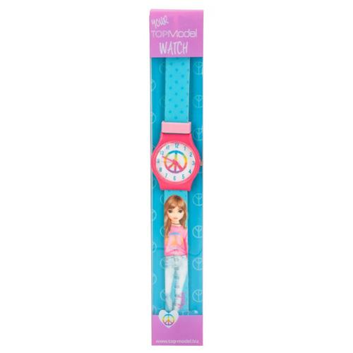 Hodinky Top Model ASST Hayden, silikonový pásek, růžovo-modré