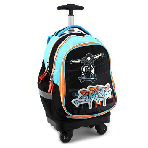 Školní batoh Trolley Target Skate, modro-černý