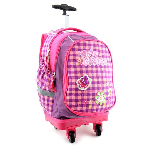 Školní batoh Trolley Target Magic Garden, růžový