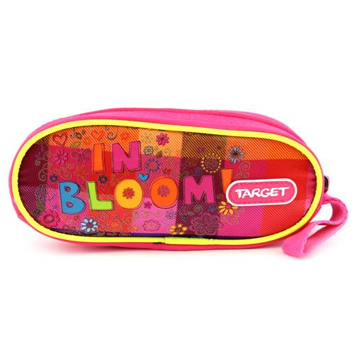 Školní penál Target In Bloom!, jednoduchý, růžový