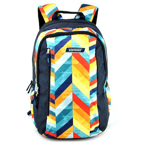 Studentský batoh Target Tmavě modrý s barevnými proužky