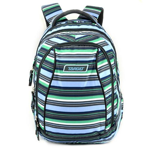 Školní batoh 2v1 Target Zeleno-modro-šedé pruhy