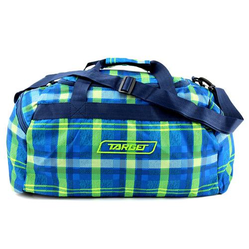 Cestovní taška Target Kostkovaná, modro-zelená