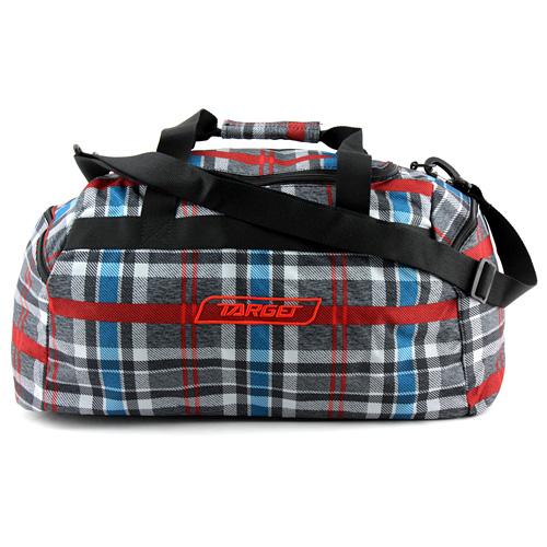 Cestovní taška Target Kostkovaná, červeno-modro-šedá