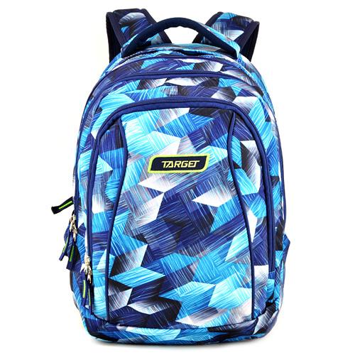 Školní batoh 2v1 Target Modrý se vzorem