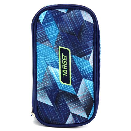 Školní penál bez náplně Target Compact, modrý se vzorem