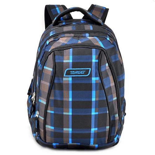 Školní batoh 2v1 Target Šedo-modro-černý