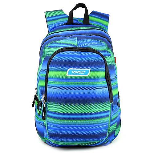 Studentský batoh Target Zeleno-modrý se vzorem