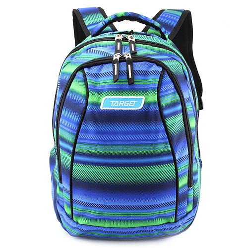 Školní batoh 2v1 Target Zeleno-modrý se vzorem