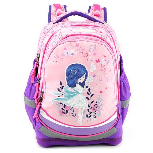 Školní batoh Target Květinová dívka, fialovo-růžový