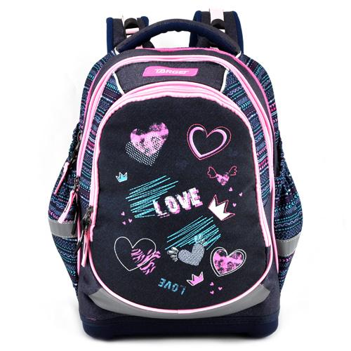 Školní batoh Target Love, růžovo-černý
