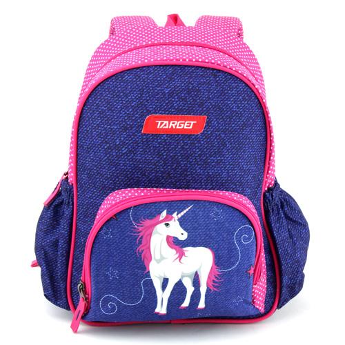Batůžek Target Jednorožec, růžovo-modrý