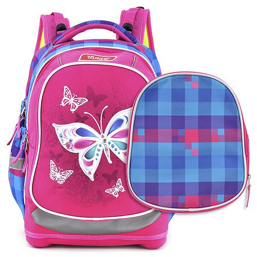 Školní batoh Target Motýlci, modro-růžový