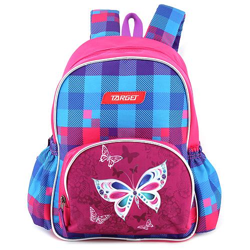Batůžek Target Motýlci, růžovo-modrý