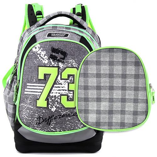Školní batoh Target 73, zeleno-šedý