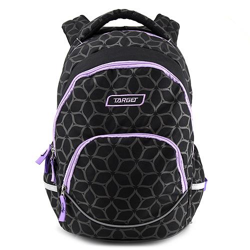 Studentský batoh Target Fialovo-černý se vzorem