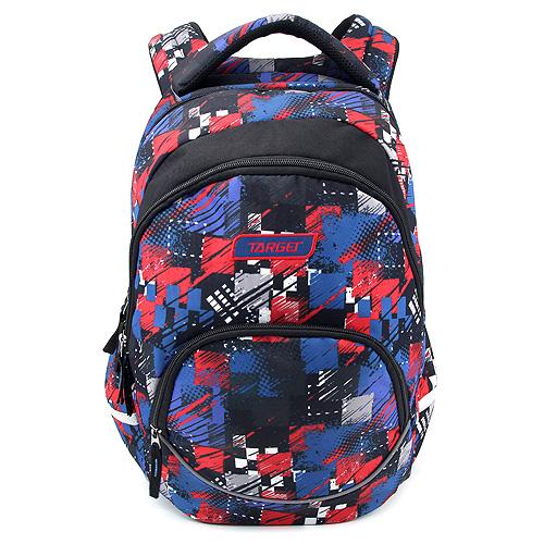 Studentský batoh Target Červeno-modré vzory