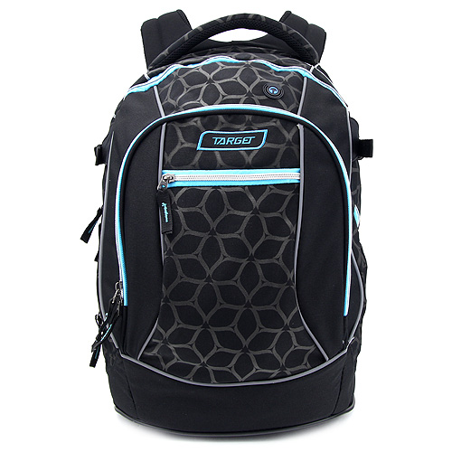 Studentský batoh Target Modro-černý se vzory