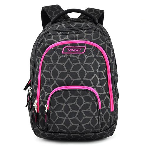 Školní batoh 2v1 Target Růžovo-černý se vzorem