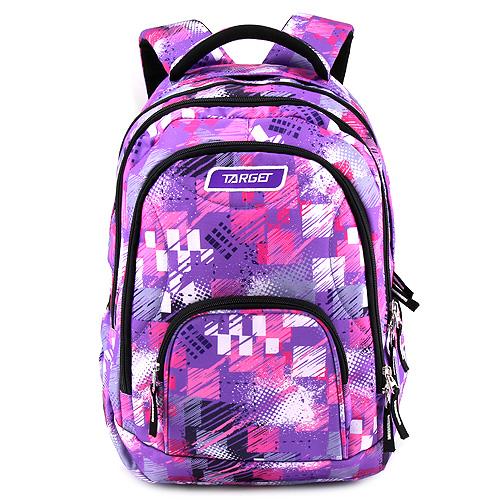 Školní batoh 2v1 Target Růžovo-fialový se vzorem