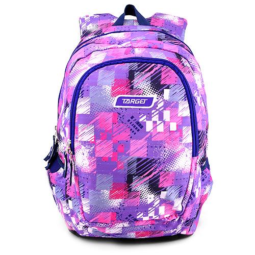 Studentský batoh Target Růžovo-fialový se vzorem