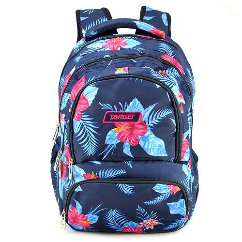 Školní batoh Target Modrý s květinami